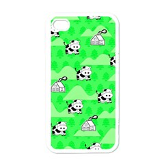 Animals Cow Home Sweet Tree Green Apple iPhone 4 Case (White)