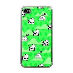 Animals Cow Home Sweet Tree Green Apple iPhone 4 Case (Clear)