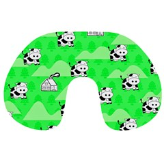 Animals Cow Home Sweet Tree Green Travel Neck Pillows
