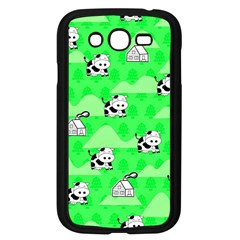 Animals Cow Home Sweet Tree Green Samsung Galaxy Grand DUOS I9082 Case (Black)