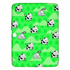 Animals Cow Home Sweet Tree Green Samsung Galaxy Tab 3 (10.1 ) P5200 Hardshell Case