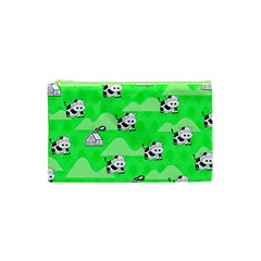 Animals Cow Home Sweet Tree Green Cosmetic Bag (XS)