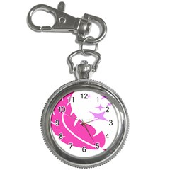 Bird Feathers Star Pink Key Chain Watches