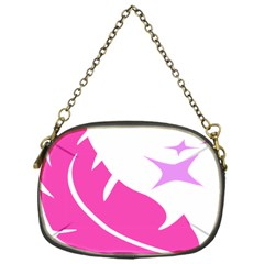 Bird Feathers Star Pink Chain Purses (One Side)