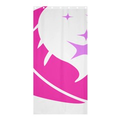 Bird Feathers Star Pink Shower Curtain 36  x 72  (Stall)