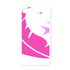 Bird Feathers Star Pink Apple iPhone 4 Case (White)