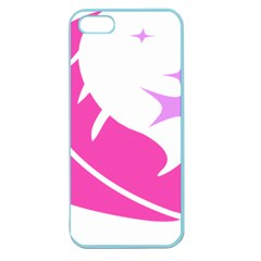 Bird Feathers Star Pink Apple Seamless iPhone 5 Case (Color)