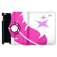 Bird Feathers Star Pink Apple Ipad 3/4 Flip 360 Case