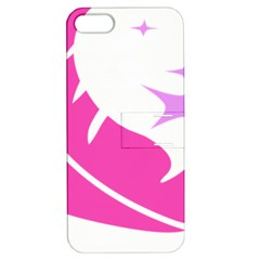 Bird Feathers Star Pink Apple Iphone 5 Hardshell Case With Stand
