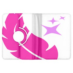 Bird Feathers Star Pink Kindle Fire HDX Flip 360 Case
