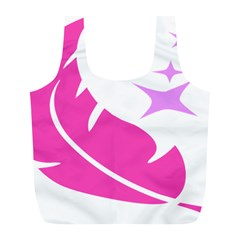 Bird Feathers Star Pink Full Print Recycle Bags (L)