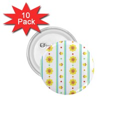 Beans Flower Floral Yellow 1 75  Buttons (10 Pack)
