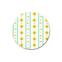 Beans Flower Floral Yellow Magnet 3  (Round)