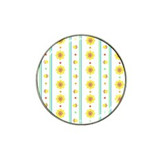 Beans Flower Floral Yellow Hat Clip Ball Marker (10 pack)
