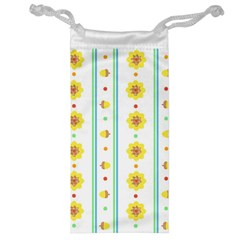 Beans Flower Floral Yellow Jewelry Bag