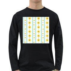 Beans Flower Floral Yellow Long Sleeve Dark T-Shirts