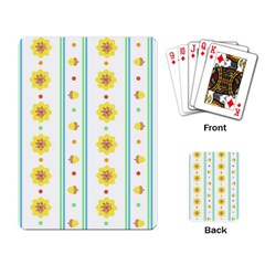 Beans Flower Floral Yellow Playing Card