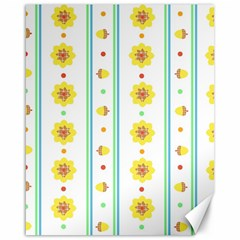 Beans Flower Floral Yellow Canvas 16  x 20