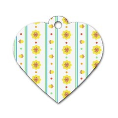 Beans Flower Floral Yellow Dog Tag Heart (One Side)