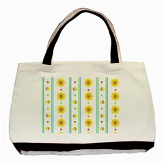 Beans Flower Floral Yellow Basic Tote Bag (Two Sides)