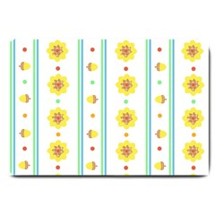 Beans Flower Floral Yellow Large Doormat