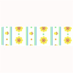 Beans Flower Floral Yellow Large Bar Mats