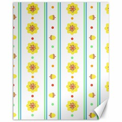 Beans Flower Floral Yellow Canvas 11  x 14