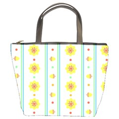 Beans Flower Floral Yellow Bucket Bags