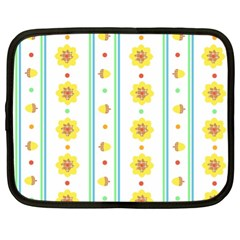 Beans Flower Floral Yellow Netbook Case (XL)