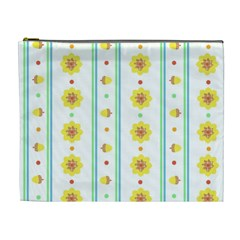 Beans Flower Floral Yellow Cosmetic Bag (XL)