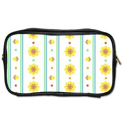 Beans Flower Floral Yellow Toiletries Bags 2-Side