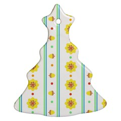 Beans Flower Floral Yellow Ornament (Christmas Tree)