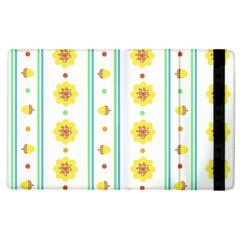 Beans Flower Floral Yellow Apple iPad 2 Flip Case