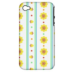 Beans Flower Floral Yellow Apple iPhone 4/4S Hardshell Case (PC+Silicone)