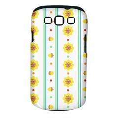 Beans Flower Floral Yellow Samsung Galaxy S III Classic Hardshell Case (PC+Silicone)