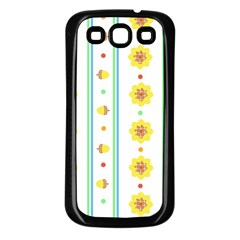 Beans Flower Floral Yellow Samsung Galaxy S3 Back Case (Black)