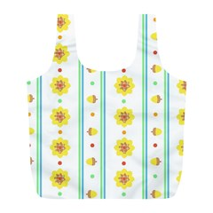 Beans Flower Floral Yellow Full Print Recycle Bags (L)