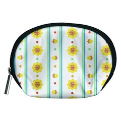 Beans Flower Floral Yellow Accessory Pouches (Medium)