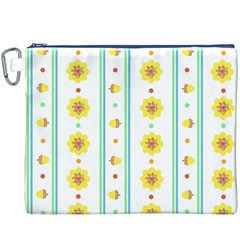 Beans Flower Floral Yellow Canvas Cosmetic Bag (XXXL)