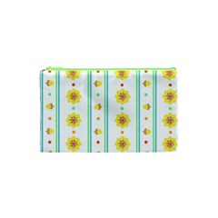 Beans Flower Floral Yellow Cosmetic Bag (XS)
