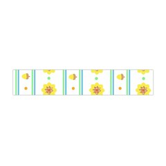 Beans Flower Floral Yellow Flano Scarf (Mini)