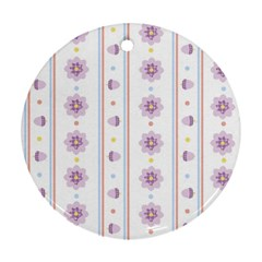 Beans Flower Floral Purple Ornament (Round)