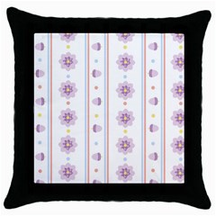 Beans Flower Floral Purple Throw Pillow Case (black)