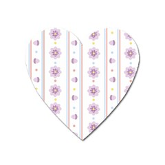 Beans Flower Floral Purple Heart Magnet