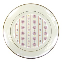Beans Flower Floral Purple Porcelain Plates