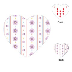 Beans Flower Floral Purple Playing Cards (Heart)