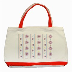 Beans Flower Floral Purple Classic Tote Bag (Red)