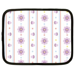 Beans Flower Floral Purple Netbook Case (XXL)