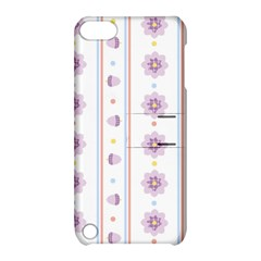 Beans Flower Floral Purple Apple iPod Touch 5 Hardshell Case with Stand