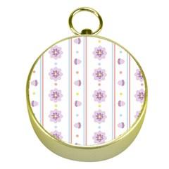 Beans Flower Floral Purple Gold Compasses